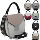 New On Trend Large Studs Detail Faux Leather Ladies Shoulder Bag Handbag