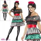 Ladies Day of the Dead Senorita Doll Costume Halloween Adult Fancy Dress Outfit