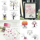 Alternative Guest Book Sign painting Personalised Wedding  Thumbprint Tree