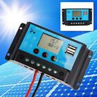 10A/20A LCD 12/24V PWM Solar Power Controller Regulator Charger Battery & USB DC
