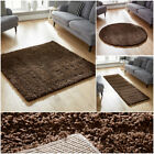 BROWN RUGS SMALL TO LARGE SHAGGY RUG THICK 5CM PILE WAREHOUSE CLEARANCE SALE