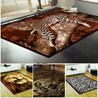 NEW LION TIGER ZEBRA LEOPARD PRINT RUGS 8MM PILE QUALITY CLEARANCE WILDLIFE RUG