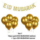 UK Balloons Set Glitter Gold Paper Banner Party Decor RAMADAN KAREEM EID MUBARAK