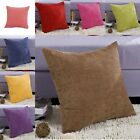 Supersoft Corduroy Corn Striped Cushion Pillow Covers Cases for Couch Sofa Bed
