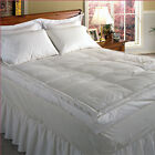 """233 TC Cotton Cover 5"""" Down Pillow Top Featherbed White"""
