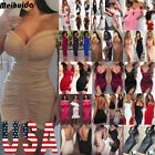 USA Women Bandage Bodycon Sleeveless Evening Party Cocktail Short Mini Dress Lot