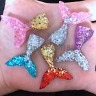 Внешний вид - DIY 8Pcs Resin Mermaid tail Flatback Rhinestone child Manual works DIY scrapbook