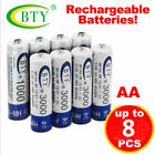 4 8 12 20 x AA Rechargeable Batteries 1.2V 3000mAh BTY Ni-MH Light Lamps USA
