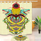 Abstract Monster Shower Curtain Liner Polyester Fabric Bathroom Set Accessories