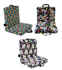 Double Folding Bingo Seat Cushion w/ Cushion Back & Carry Handles