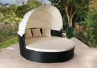 Rattan Day Bed Rattan Garden Furniture Sofa Lounger Outdoor Patio Wicker New