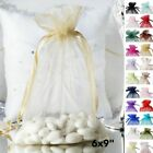 10 pcs 6x9 inch ORGANZA Fabric BAGS - Wedding FAVORS Drawstring Gift Pouch