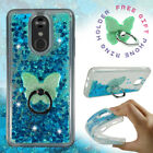For LG Stylo 5| Stylo 4| 4 Plus| Liquid Glitter Rubber Clear Phone Case Cover