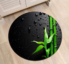 Round Mat Black Background Green Bamboo Bedroom Carpet Living Room Area Rugs Hot