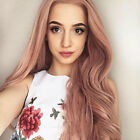 Women Synthetic Lace Front Wigs Long Wavy Pink Hair Wig Cheap Wig Heat Resistant