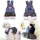 Summer Pet Dog Dress Cat Strap Skirt Cute Dot  Puppy Clothes Apparels  XS-XL USA