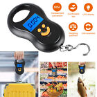 Digital LCD Fish Scale Postal Hanging Hook Luggage Weight Mini Portable 110lb US