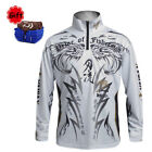 Performance Fishing T-Shirt Sun Protection Windproof Breathable for Outdoor
