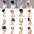 Внешний вид - Lady Girl Fascinator Wedding Party Veil Feather Hair Clip Hat Mesh Net Handmade