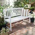 Outdoor Porch Wood Bench Patio Garden Yard 5 Ft 3 Person Wooden White Furniture