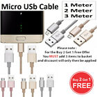 Braided Micro USB FAST Data Charger Cable Lead For S5 S6 S7...