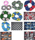 NASCAR Checkered Flag Racing Fabric Hair Scrunchies by Sherry $6.99  on eBay