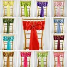 Satin CHAIR SASHES Bows Ties Wedding Reception Decorations Wholesale
