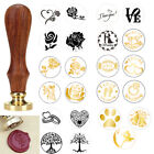 Внешний вид - Vintage Handle Stamp Wooden Wax Seal For Wedding Invitation Letter Card Envelope