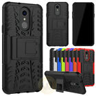 For LG Q7 / Q7 Plus Case, Rugged Armor Hybrid Kickstand Shockproof Phone Cover