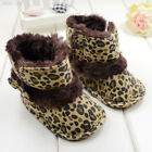 Fashion Warm Lovely Baby Girls Bowknot Leopard Snow Toddler Boots Shoes C49D