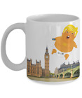 Baby Trump Flying Balloon Over London Funny Protest Coffee Mug Gift v.2