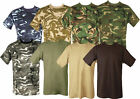 WOODLAND CAMOFLAGE CAMO GREEN T Shirt Army / Military / Hunting / Fishing