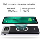 Qi Wireless Charging 20000mAh LCD Power Bank 2USB 2LED Battery Charger For Phone