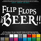Funny Flip Flops and Beer beach camping summer party friends Decal Sticker