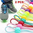 1 Pair Stretching Locking Shoe Laces Elastic Sneakers Shoestrings Fashion New