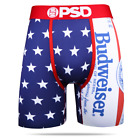 PSD American Budweiser Beer Flag Patriotic Boxer Briefs Underwear E21810056-RED