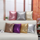 Solid Glitter Sequins Throw Pillow Case Cafe Home Decor Cushion Cover US Stock image