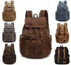 Men Women Retro Canvas Travel Sport Bag Rucksack School Bookbag Laptop Backpack