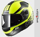 LS2 FF325 Strobe Zone Fluo Yellow Black System Motorcycle Helmet Flip Front