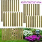 10pcs Impregnated Fence Slat Garden Patio Railing Wood Panel 60/80/100/120/140cm