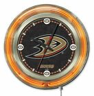 "Holland Bar Stool NHL 15"" Double Neon Ring Logo Wall Clock on eBay"