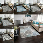 NEW BLUE GREY WHITE MODERN CHLOE TEXTURED CONTEMPORARY DESIGN BEST QUALITY RUGS