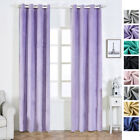Soft Velvet 52 x 108-Inch Window Drapes Curtains 2 Panels with Grommet Top Home