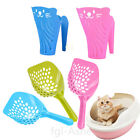 Cat Litter Scoop Plastic Kitty Dog Tray Poop Sieve Pets Cleaning Shovel Random