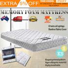 Luxury Single & King Single Mattress Bamboo Fabric Sleeping Bed Memory Foam