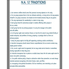 NA 12 Traditions