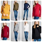 New Women's Soft Stretch Turtle Neck Pullover Knit Sweater (S-XL)