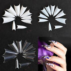 500PCS Natural French Acrylic False Clear UV Gel Nail Tips White Point Nail Tips
