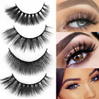 3 Pairs Handmade Fake Eye Lash Set Natural Eyelash Long Makeup Cosmetic Tools