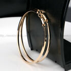 Fashion Big Hoop Earrings Silver/Gold Women Lady Large Hoops Earrings Jewelry